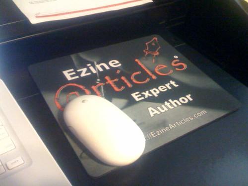 Ezine Article limited edition mouse pad