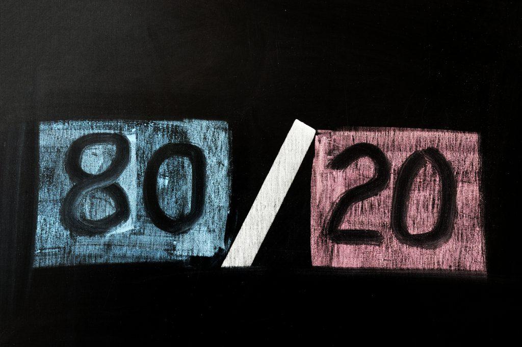 80/20 chalkboard