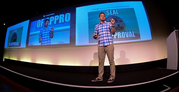 CEO Chris Bennett speaking at SearchLove London in 2013