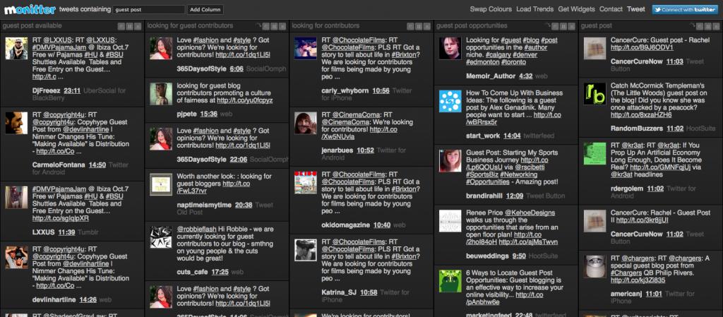 monitter screenshot