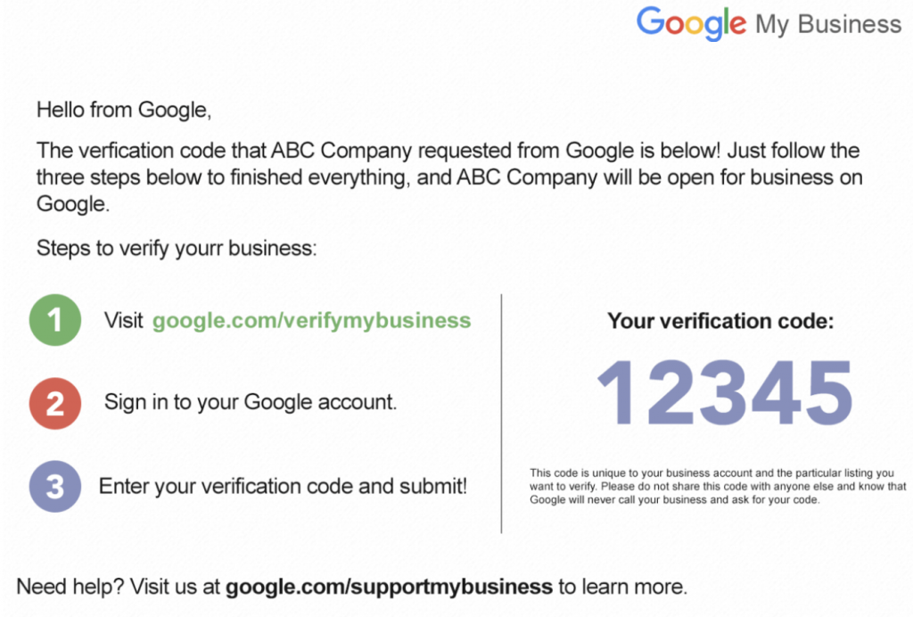 verify business screenshot