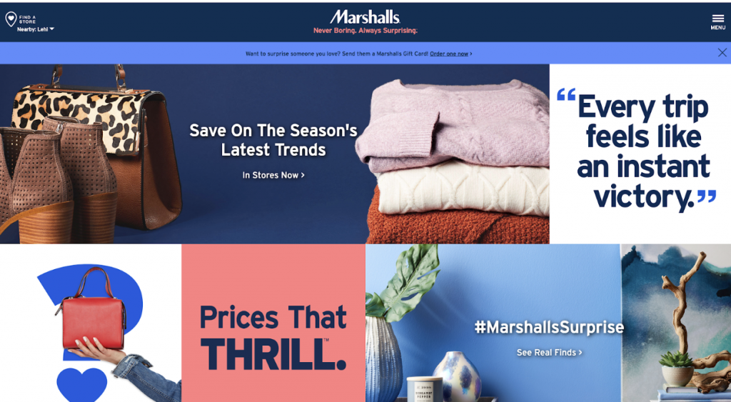 marshalls homepage