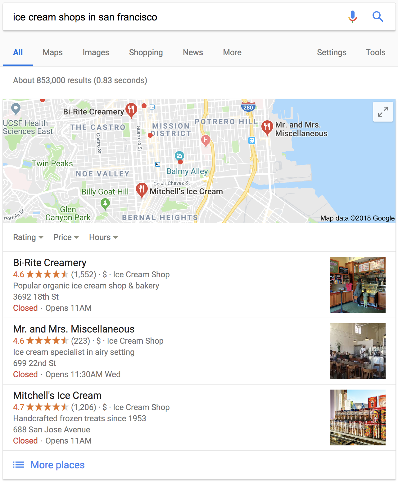 google maps ice cream 2